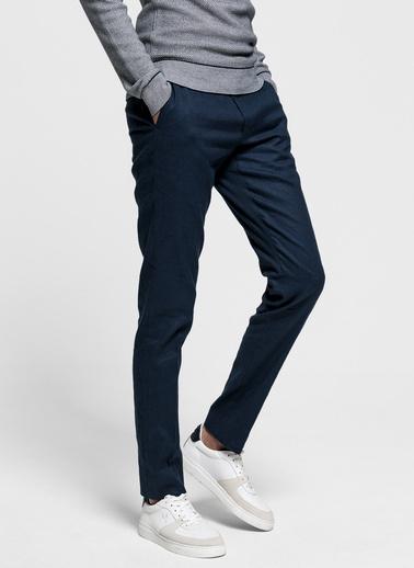 Gant Erkek Slim Fit Keten Pantolon Lacivert
